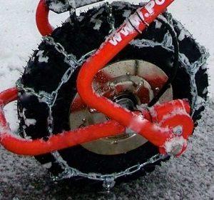 brouette electrique chaîne neige