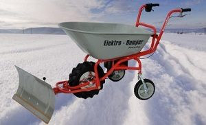 brouette electrique chasse neige